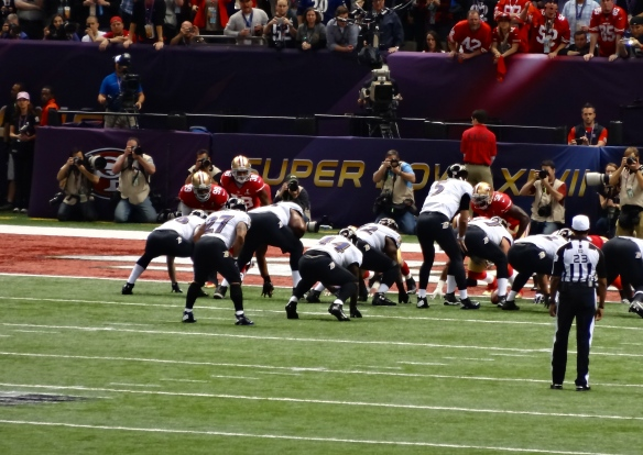Baltimore Ravens and the San Francisco 49ers Super Bowl XLVII