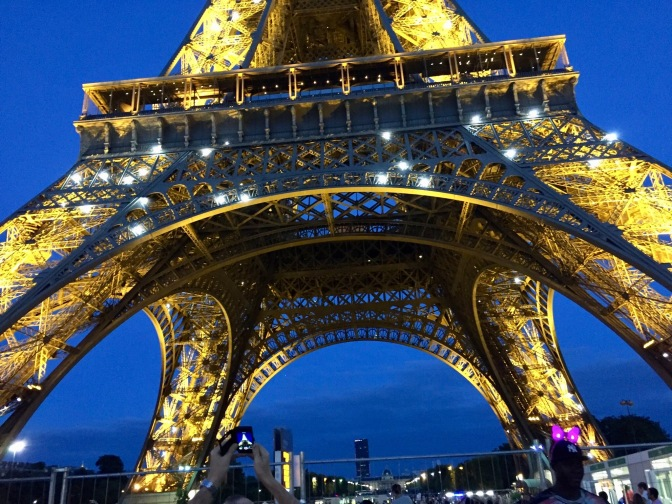 The Eiffel Tower was the tallest structure in the world.